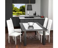 TecTake Set de sillas de Comedor 41x45x98,5cm cantidades - (6X Blanco   No. 401850)
