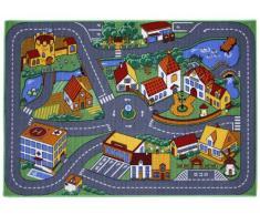 Associated Weavers Alfombra infantil para jugar (95 x 133 cm), diseño de ciudad con carreteras