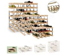 Sistema Botellero modular TREND, máx. 12 botellas, roble claro, ampliable / apilable - alt. 22,8 x anch. 42 x pr. 30 cm