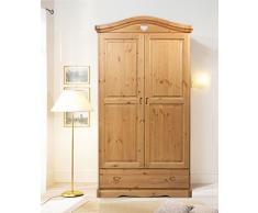 Armario 2 puertas de madera pino macizo - color miel