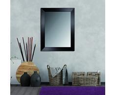 Lienzos Levante DATAB01-12 - Espejo de pared para vestidor, cabecero o aparador, 157 x 57 cm, color wengué