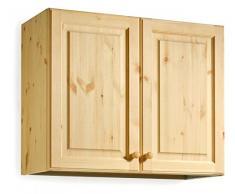 Armario pared escurreplatos - madera de pino - 80x72x35 - bruto