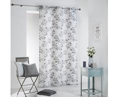 COTON DINTERIEUR Algodón de interior Ashley cortina con ojales, algodón, gris, 140 x 240 cm