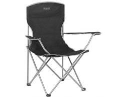 Highlander Traquair Folding Chair - Silla de camping, color negro