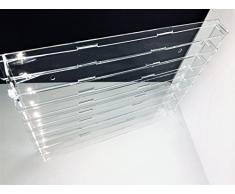 Técnicas Láser TR.4.2L8B/T Vitrina de metacrilato, Transparente, fondo transparente, Montada mide 50x60x5 (altoxanchoxfondo), Set de 13 Piezas