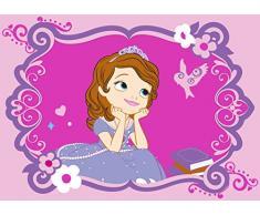 Associated Weavers 619884 - Alfombra, diseño de la Princesa Sofía de Disney (poliamida, 133 x 97 x 1 cm), color rosa