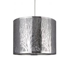 C Création 272787 - Lámpara colgante de metal (30 cm 60 W E27 230 V), diseño de árboles, color plateado