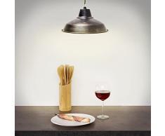 Relaxdays 10018907 - Lámpara colgante, estilo industrial, zócalo E27, cable 96 cm largo, ajustable