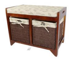 Banco de almacenamiento de madera de Cambourne Geko 58 x 34 x 45 cm