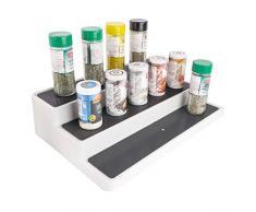 UPP Estantería de Cocina 3 Pisos - Extensible de 37 - 65 cm - Ancho Antideslizante Niveles - como - Especiero & Cocina Estante