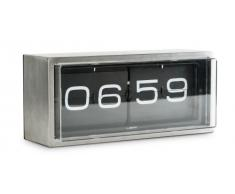 Leff Amsterdam LT15101 - Reloj digital de mesa o pared de acero inoxidable, color negro