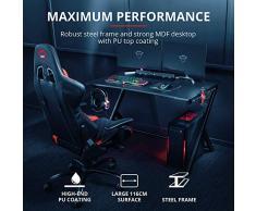 Trust Gaming GXT 711 Dominus Mesa para Gaming, Negro, 73.5 X 115 X 76 cm