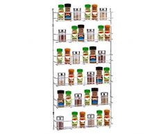Bluelliant Especiero De Cocina Organizador para Especias Estanteria para Armario Almacenaje Estante De Pared (6 Niveles)