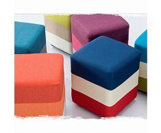 Zapatos creativo para el banco de llevar zapatos taburete taburete taburete taburete redondo de la manera del paño del sofá del taburete Dunzi maquillaje heces Tienda de ropa ( Color : #7 )