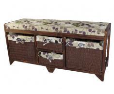 Banco de almacenamiento de madera de Aston Geko 100 x 34 x 45 cm