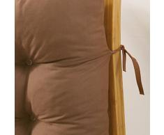 JiaQi Espesar Mecedora Pad,Interiores Cojines de Asiento,Una Sola Pieza Cojín Silla con Lazos Dolor de coxis Lumbalgia Tatami-Negro 48x120cm(19x47inch)