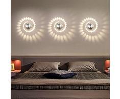 Coocnh 3 W LED Lámpara de Pared Aluminio Apliques de Pared Baño Lámpara Moderna Pared Stahler Efecto Baño Lámpara de Piso Lámpara