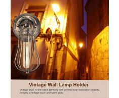 Soporte de Apliques de Pared Lámpara Vintage Luz Industrial Estilo Retro Casquillo E27, Bombilla No Incluida(Rusty)