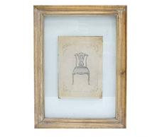 Better & Best 2351081 - Cuadro grabado de silla inglesa, con marco de color topo