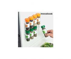 InnovaGoods Especiero Adhesivo y Divisible, PVC, Blanco, 24x3x4 cm