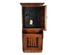 Pared de madera hecho a mano decorativo Lalhaveli revistero gabinete para mon...