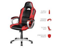 Trust GXT 705R Ryon Silla Gaming ergonómica, diseñada para jugar cómodamente durante horas, rojo