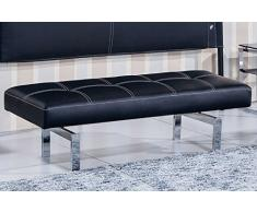 Banco tapizado para dormitorio modelo BENCH color negro – Sedutahome