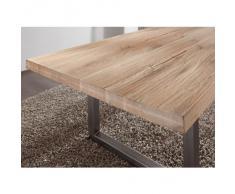 Mesa de comedor de madera maciza de sales Fever - SQUARE de roble estructura de acero 100 x 200 x B T H 78 cm
