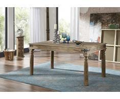 Muebles de madera de palisandro para una mesa de comedor colonial madera gris 160 x 90 madera de palisandro indio maciza barnizada muebles Robin #29