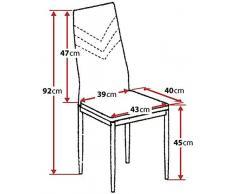 Albatros 2921 Verona Set de 2 sillas de Comedor, Negro, pie de Cromo, SGS Tested