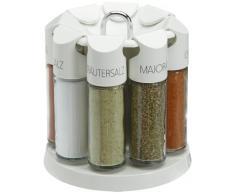 Emsa Galerie Especiero Circular, Cristal/Plástico, Blanco/Transparente, 8 Unidades