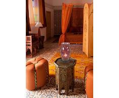 Näve 325101 - Lámpara de mesa (27 cm), diseño de mosaico, color rojo