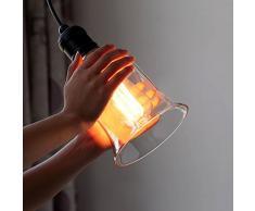 BAYCHEER Cristal Mini lámpara colgante lámpara de la Industria - Lámpara de techo de araña lámpara techo regulable para restaurante