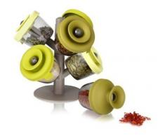 Appetitissime Spices Tree Especiero, Verde, 22.5x24x10 cm, 7 Unidades
