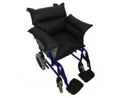 Queraltó - Cubresilla acolchado Saniluxe T/L para silla de ruedas | Cubre silla de ruedas reversible | Relleno de fibra | Impermeable, transpirable e ignífugo