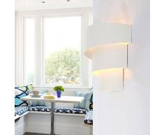 Lightess Apliques de Pared Moderna Lámpara de Pared Lámpara en Moda Agradable Luz de Ambiente Lámpara de Decoración para Dormitorio, Studio, Hogar Decoración, Porche, Viene con E27 Led Bombilla, Blanco cálido