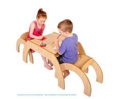 Little Helper - Mesa infantil con 2 sillas, color rosa