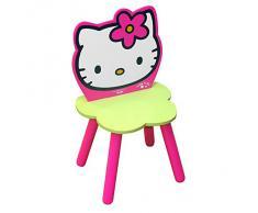 Hello Kitty - Silla de madera con flor, color rosa (Giros AB711165)
