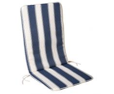 SATURNIA 8097500 Cojin Azul/Blanco Silla Reclinable 110x48x2,5 cm