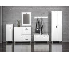 Tenzo 5291-005 Malibu diseño ropa para banco, 47 x 86 x 41 cm, tablero DM, blanco