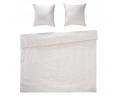Night & Day Ropa de cama satén Gatsby (160x265, con sábana bajera, blanco)