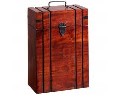 Caja de vino Donslund (madera de acacia, para 2 botellas)