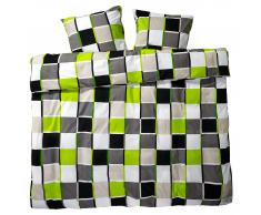 Ropa de cama renforcé Casa (230x265, verde-negro)