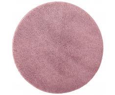 Alfombra de baño microfibra Uni de Luxe (Ø 60 cm, rosa viejo)