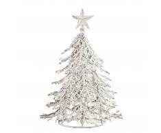 Árbol de Navidad (27 cm, hierro, blanco)