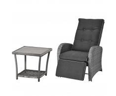 Set de jardín Colombo (44x44, 1 sillón confort, gris)