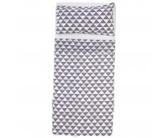 Ropa de cama en linón Triángulo (160x265, gris)