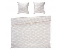 Night & Day Funda nórdica satén Gatsby (240x220, 2 almohadas, blanco)