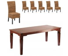Set Cuba/Rio (mesa grande + 6 sillas)