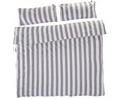 KRONBORG Ropa de cama en percal Stripes (240x220, gris)